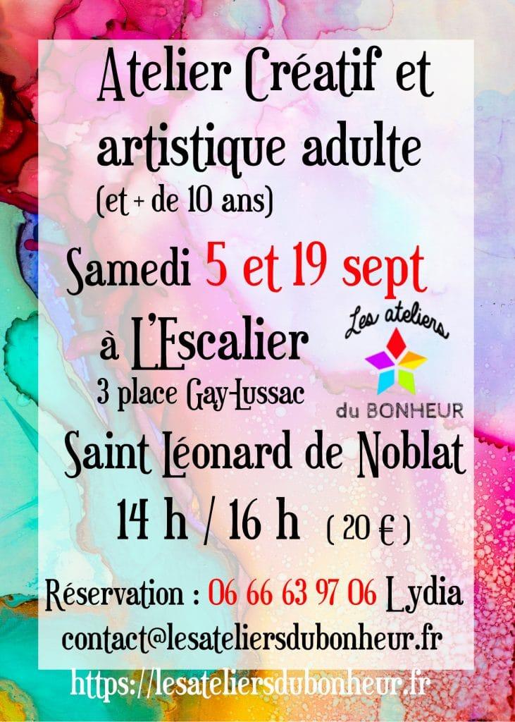 atelier stage creatif art st leo adultes enfants 11 12 13 14 15 16 17 ans escalier