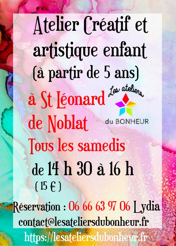 atelier creatif 5 ans  6 7 8 ans st léo saint leonard de noblat cours de dessin art artistique creation arts plastiques limousin activité enfant samedi